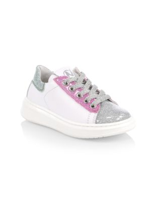 Little Girl's & Girl's Colorblock Leather Sneakers