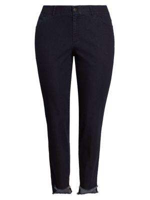 Mercer Step-Hem Skinny Jeans