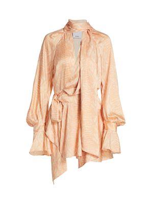 Bradley Snake-Print Wrap Dress