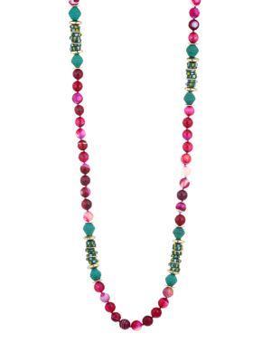 Beaded Raffia Necklace