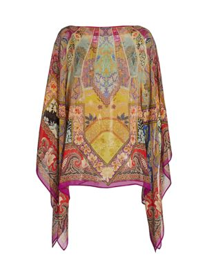Stained Glass Silk Poncho
