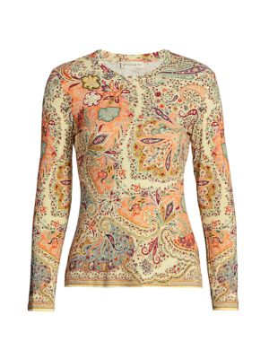 Paisley Roundneck Top