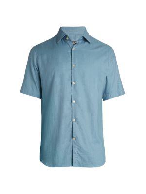 COLLECTION Modern-Fit Lattice-Print Twill Shirt