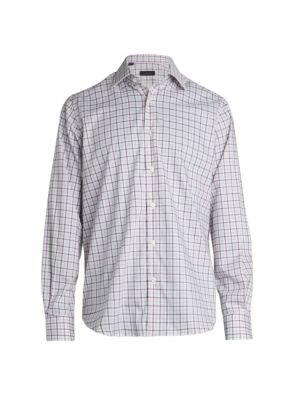 COLLECTION Plaid Woven Button-Down Shirt