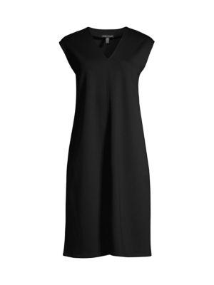 V-Neck Jersey Knit Dress