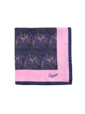 Paisley Silk Pocket Square