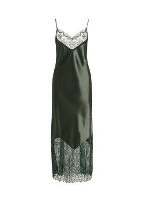 Lace-Trim Maxi Slip Dress