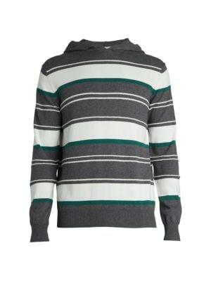 Colorblock Striped Hoodie