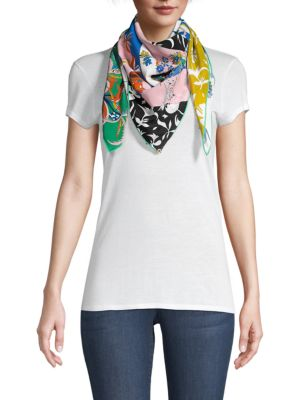 Art Therapy Synthesia Square Silk Scarf