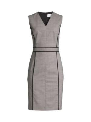 Doretti Piped Wool-Blend Dress