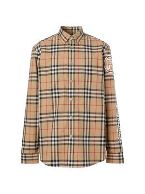 Long-Sleeve Vintage Check Shirt