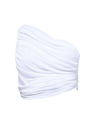Diana Ruched Cropped Bikini Top
