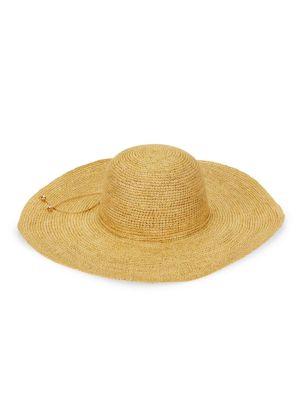 Crochet Lady Ibiza Straw Wide-Brim Hat