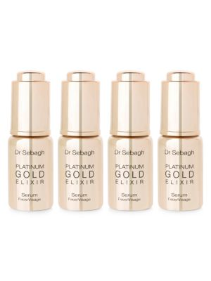 Platinum Gold Elixir 4-Piece Face Serum Set