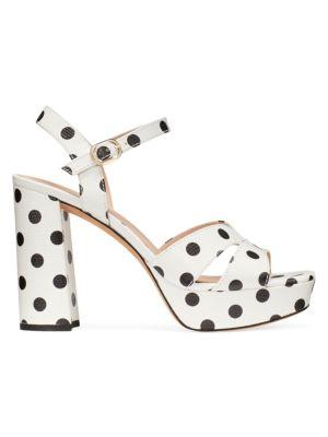 Delight Polka Dot Leather Platform Sandals