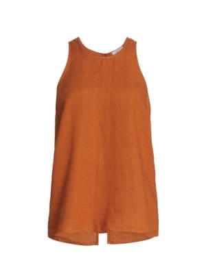Dany Split-Back Linen Shirt