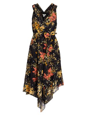 Pharrah Floral Silk-Blend Dress