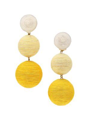 2-Piece Classic Three Ball Silk Drop Earrings