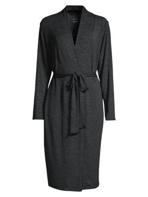 Stonewash Tie-Waist Midi Robe