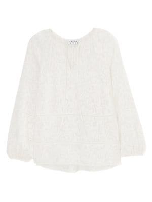 Janey Silk Long-Sleeve Blouse