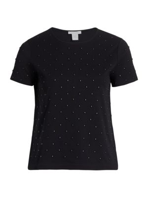 Studded Front T-Shirt