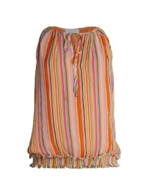Helen Sleeveless Printed Silk Top