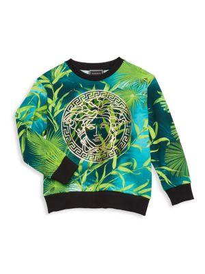 Little Boy's & Boy's Jungle-Print Medusa Sweatshirt