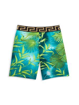 Little Boy's & Boy's Jungle-Print Shorts