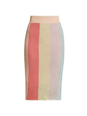 Multicolor Knit Skirt