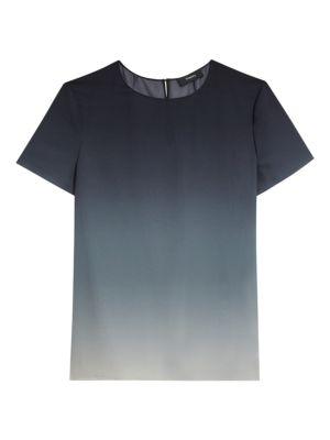 Woven Ombré Silk T-Shirt