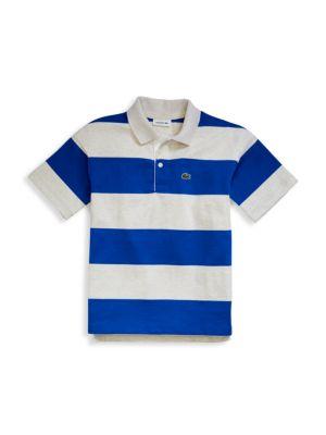 Little Boy's & Boy's Striped Polo