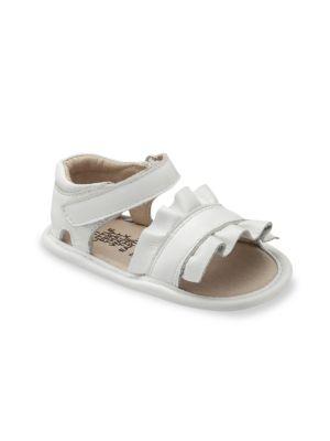 Baby's & Little Girl's Ruffled Metallic Leather Sandals