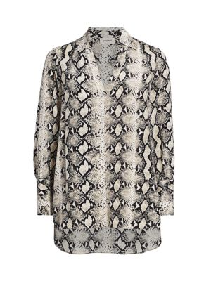 Braydon Snake Print Silk Tunic