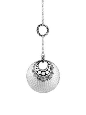 Dot Sterling Silver Drop Pendant Y Necklace