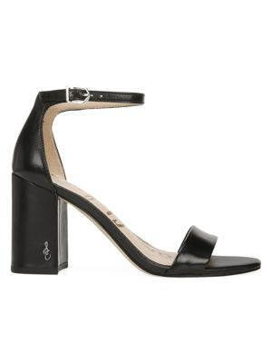Daniella Ankle-Strap Leather Sandals