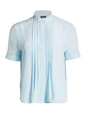 Sarah Silk Pleated Shirt