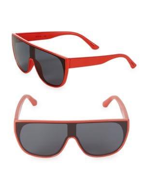 Pow Flat-Top Shield Sunglasses