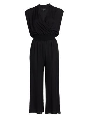 Draped Silk Jumpsuit