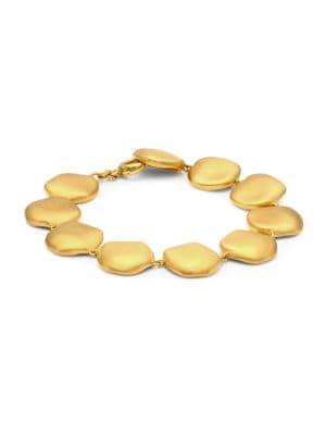 22K Goldplated Large Bead Bracelet