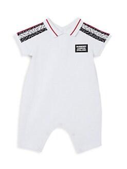 버버리 남자 아기용 쇼트올 Burberry Baby Boys Juniper Monogram Shortall,White