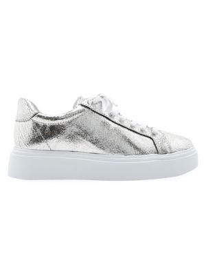 Raver Metallic Leather Platform Sneakers