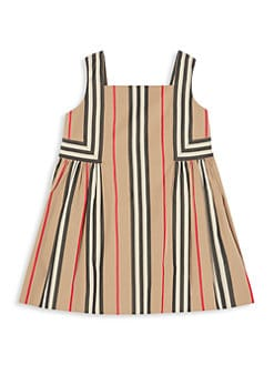 버버리 여아용 스트라이프 원피스 Burberry Babys & Little Girls Astrid Striped Dress,Beige