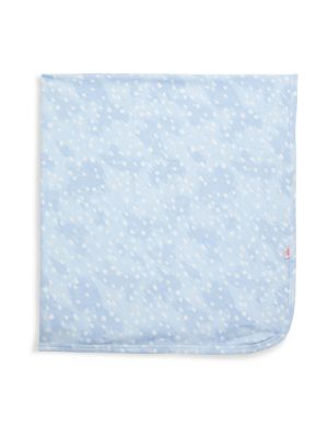 Baby Boy's Doeskin Brushed Polka Dot Swaddle