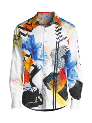 Limited Edition Multicolor Abstract-Print Sport Shirt
