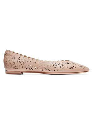 Callie Cutout Leather Ballet Flats