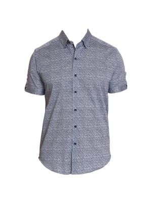 Porter Floral Stretch-Cotton Shirt