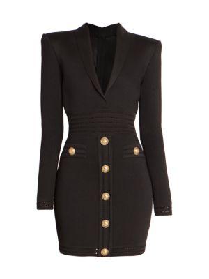 Collared Button Knit Short Dress