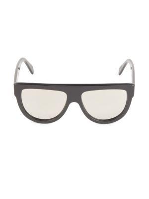 58MM Flat Top Pilot Sunglasses