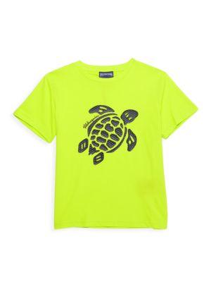 Little Boy's & Boy's Turtle-Print T-Shirt