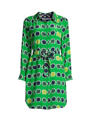 Redondo Print Silk Shirtdress